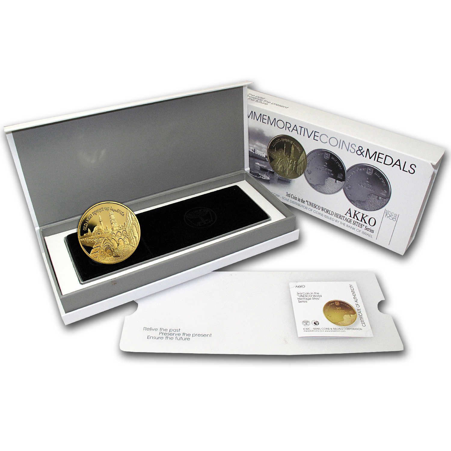 2010 Israel 1/2 oz Gold Akko Proof (w/Box & COA)