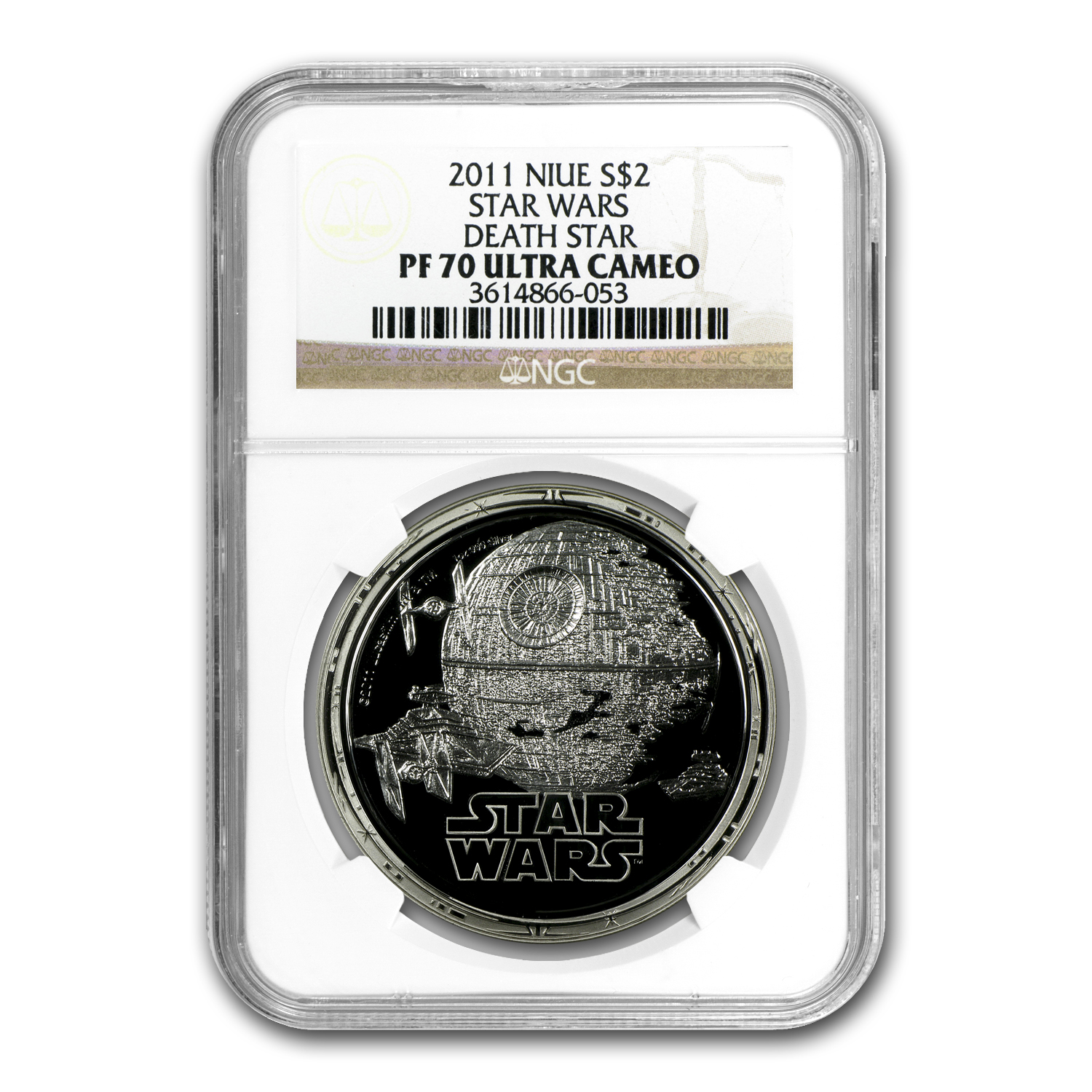 2011 4-Pc 1 oz Silver $2 Niue Star Wars Set PF-70 NGC (Dark Side)