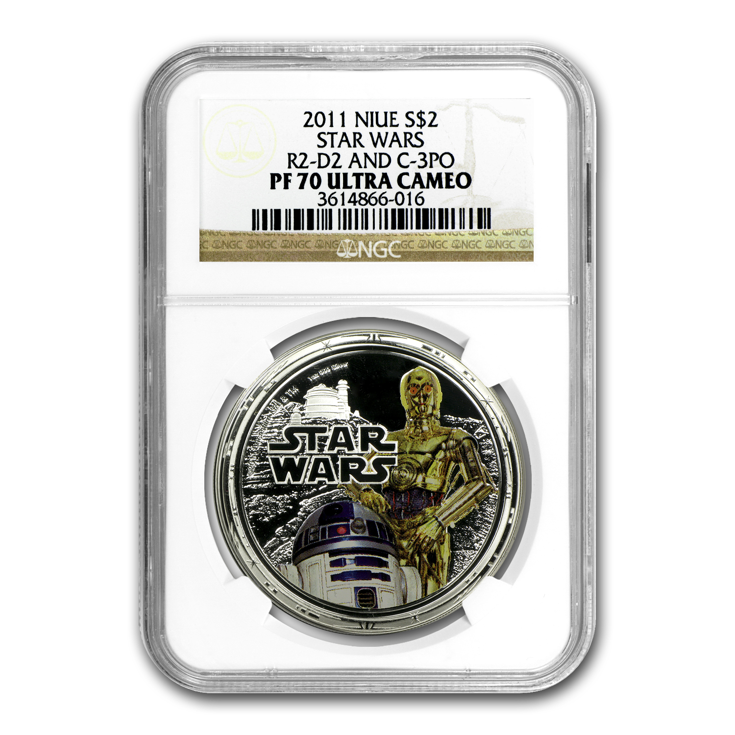 2011 4-Coin 1 oz Silver $2 Niue Star Wars Rebels Set PF-70 NGC