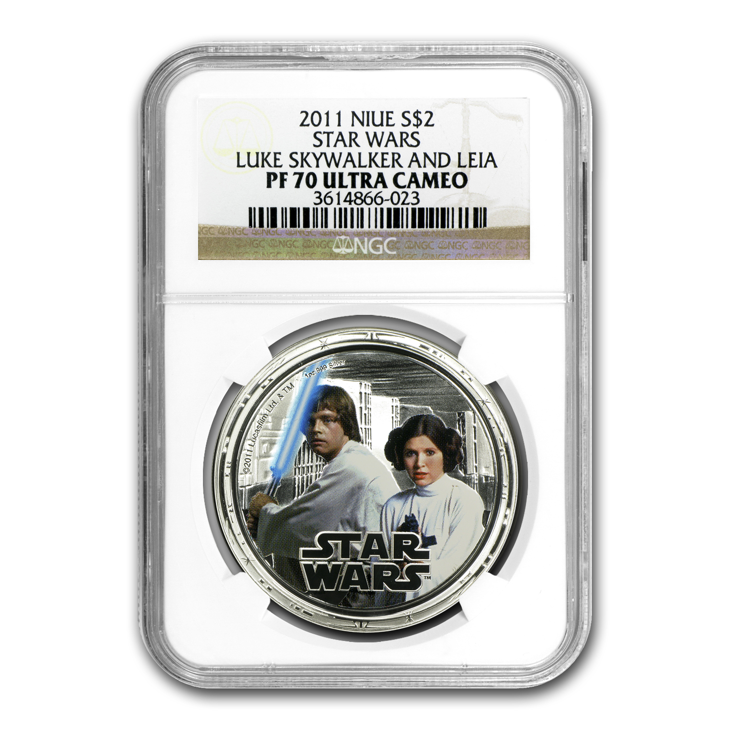 2011 Niue 4-Coin 1 oz Silver $2 Star Wars Rebels Set PF-70 NGC