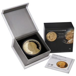 2011 Israel 1/2 oz Gold Yitzhak Rabin Proof (w/Box & COA)