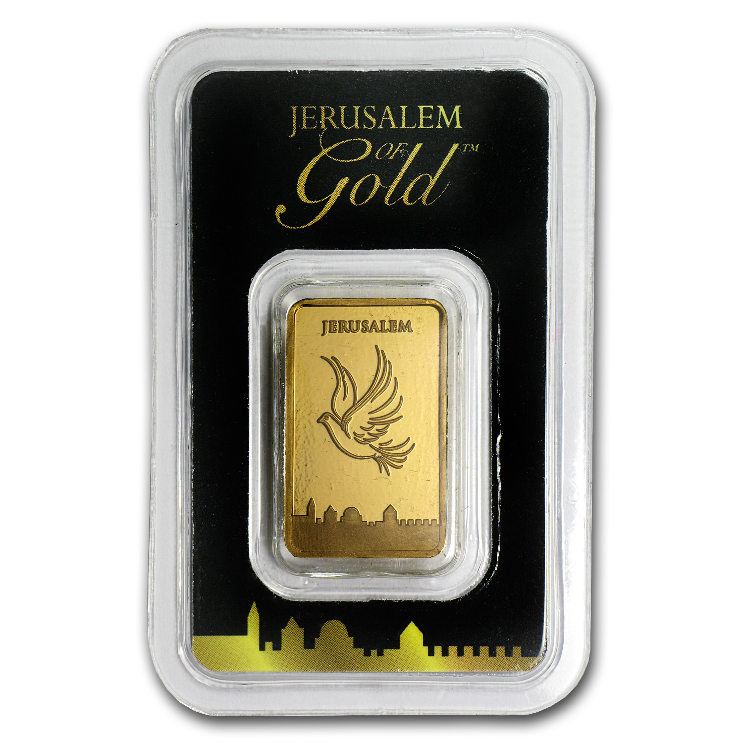 5 gram Gold Bar Holy Land Mint Dove of Peace (In Assay)
