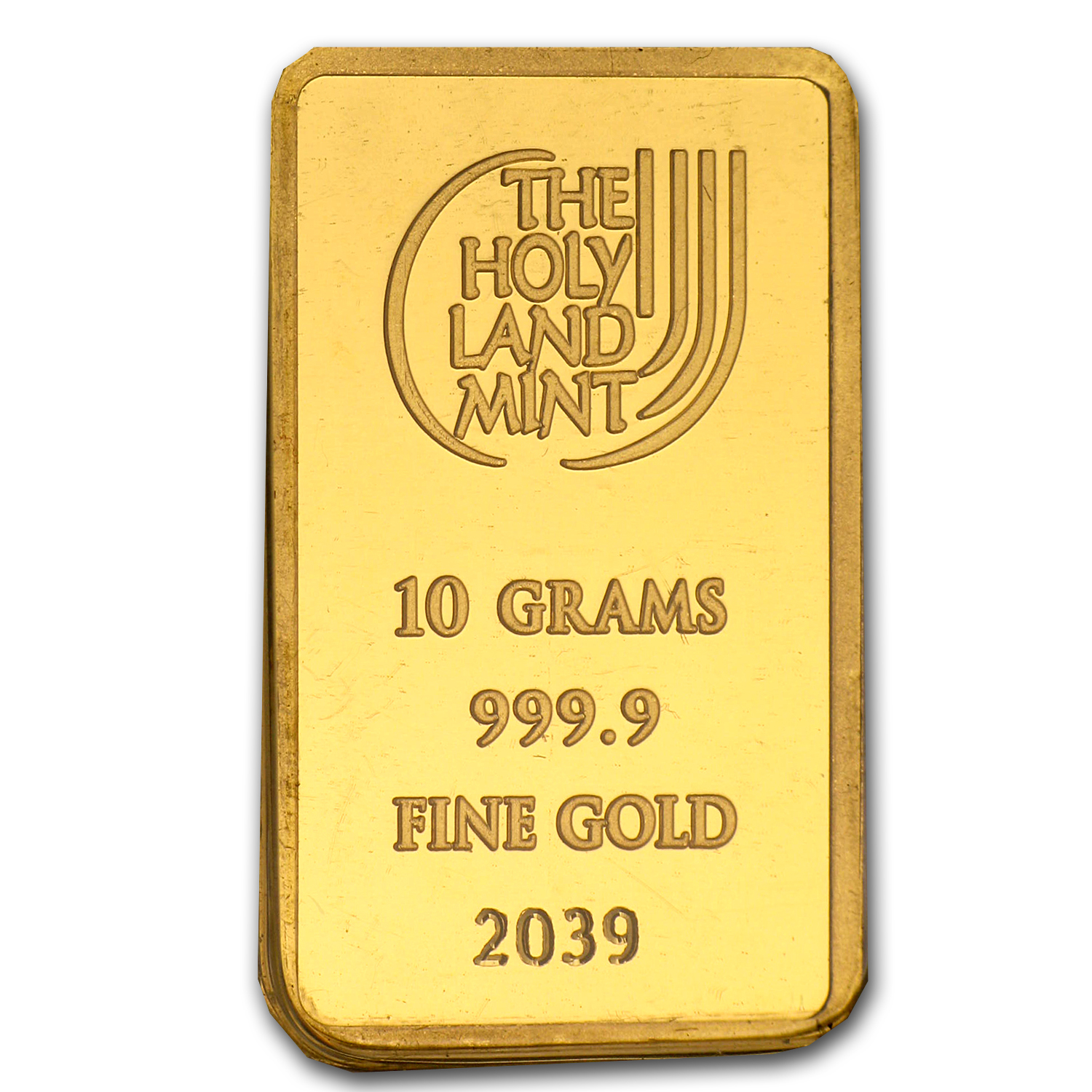 10 gram Gold Bar Holy Land Mint Dove of Peace (In Assay)