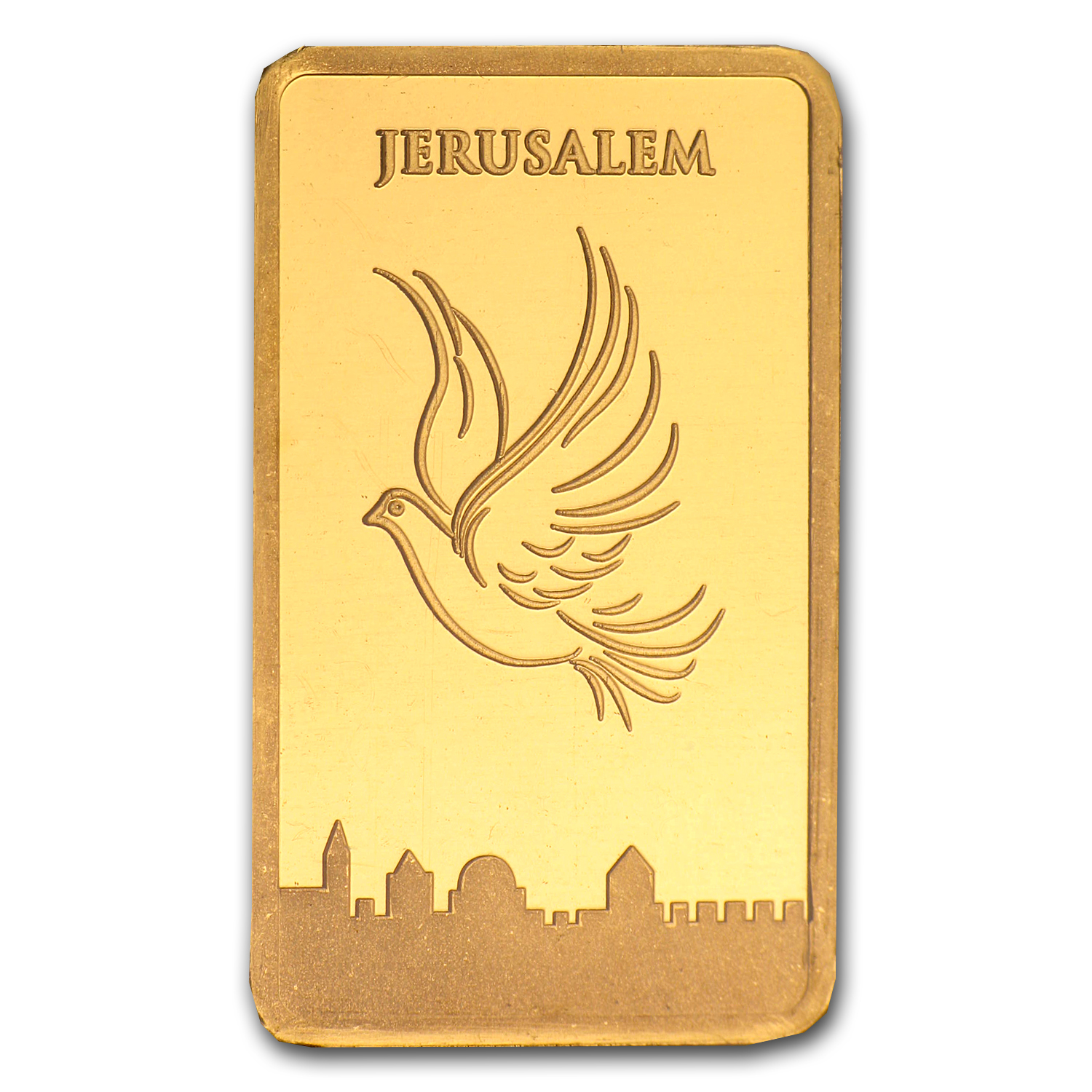 10 gram Holy Land Mint Dove of Peace Gold Bar (In Assay)