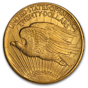 1909/8 $20 St. Gaudens Gold Double Eagle - XF