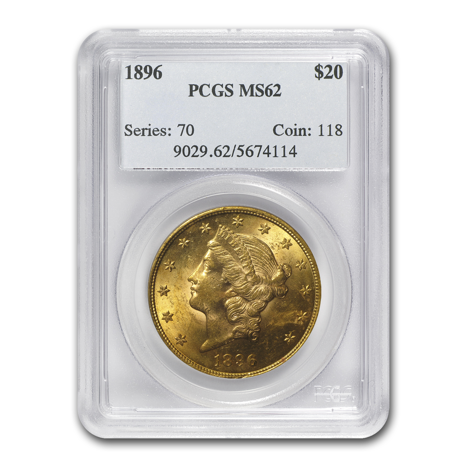 $20 Gold Liberty Double Eagle Date Set - (P Mint) - MS-62 PCGS