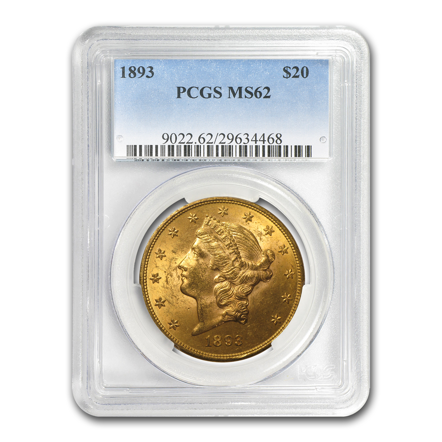 5-Coin $20 Liberty Gold Dble Eagle Set MS-62 PCGS (1800s P-Mint)