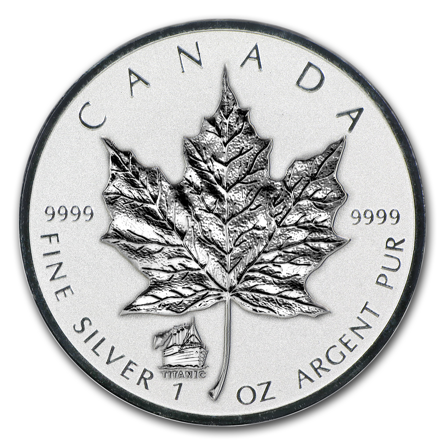 2012 Canada 1 oz Silver Maple Leaf Titanic Privy