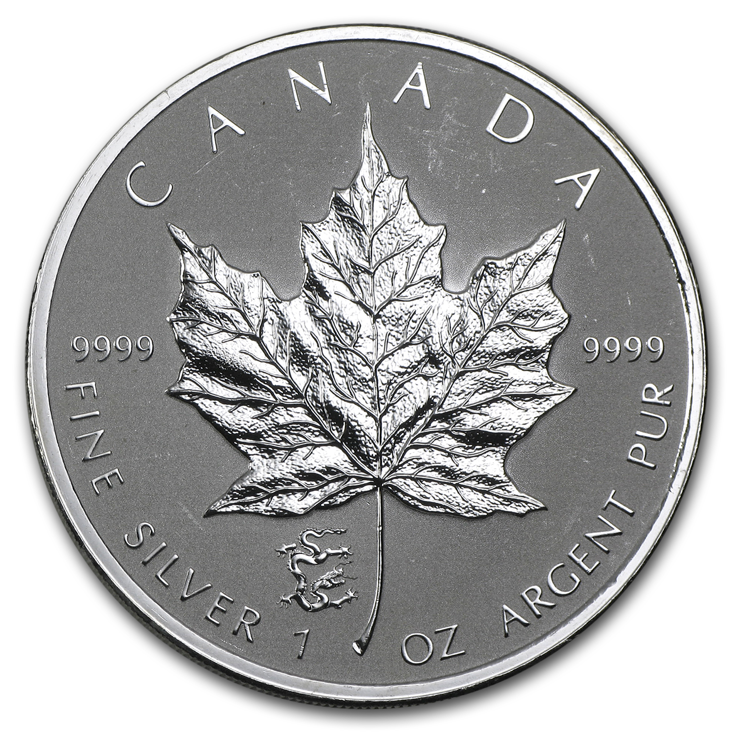 2012 Canada 1 oz Silver Maple Leaf Lunar Dragon Privy