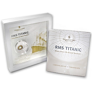 Cook Islands 2012 Silver $10 Windows of History - R.M.S. Titanic