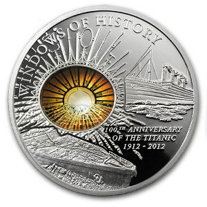 2012 Cook Islands Silver $10 Windows of History R.M.S. Titanic