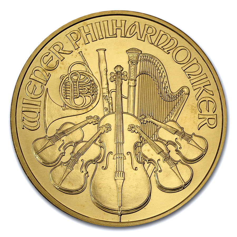 2009 20 oz Gold Austrian Philharmonic BU (20th Anniv)