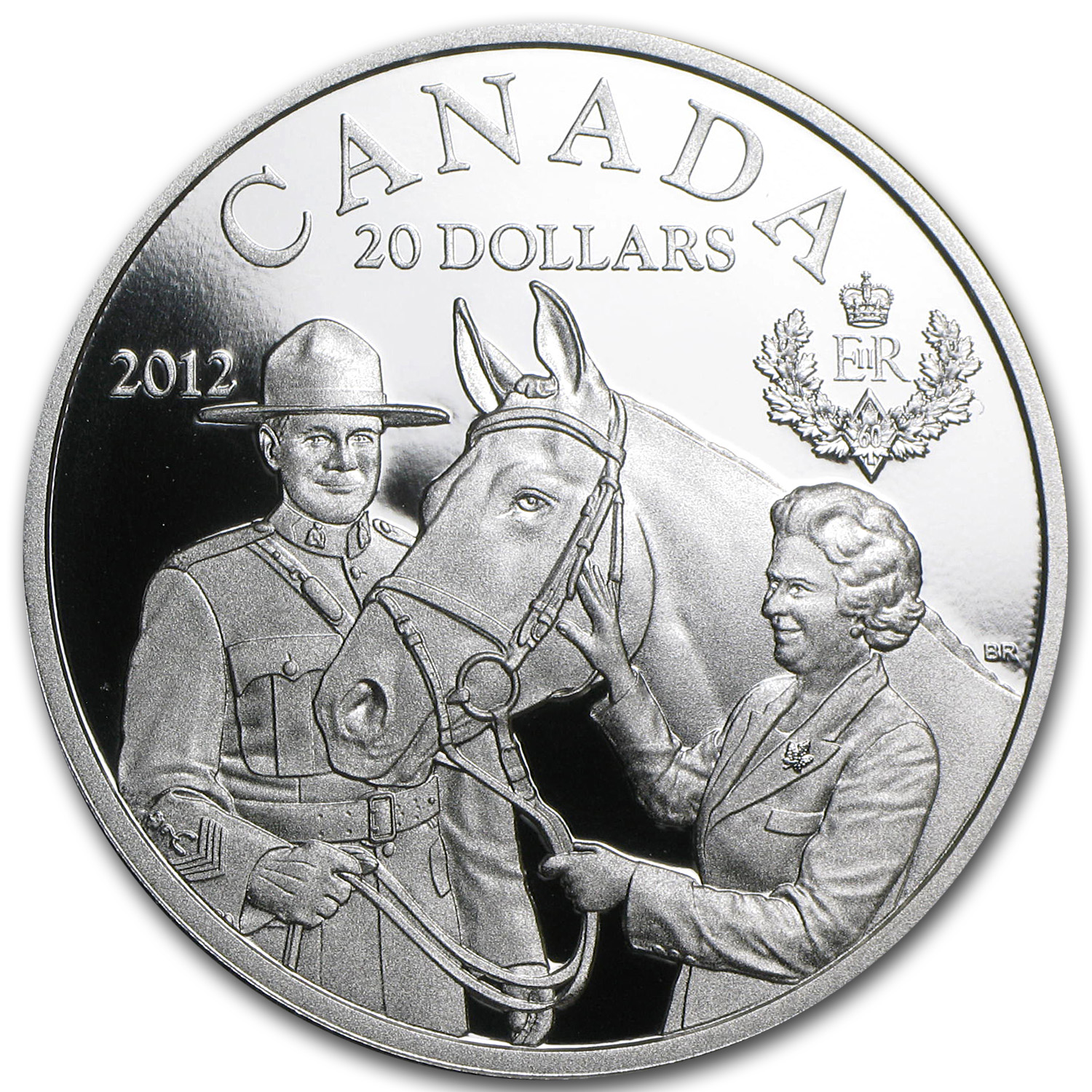2012 Canada 1 oz Silver $20 The Queen's Visit (w/Box & COA)