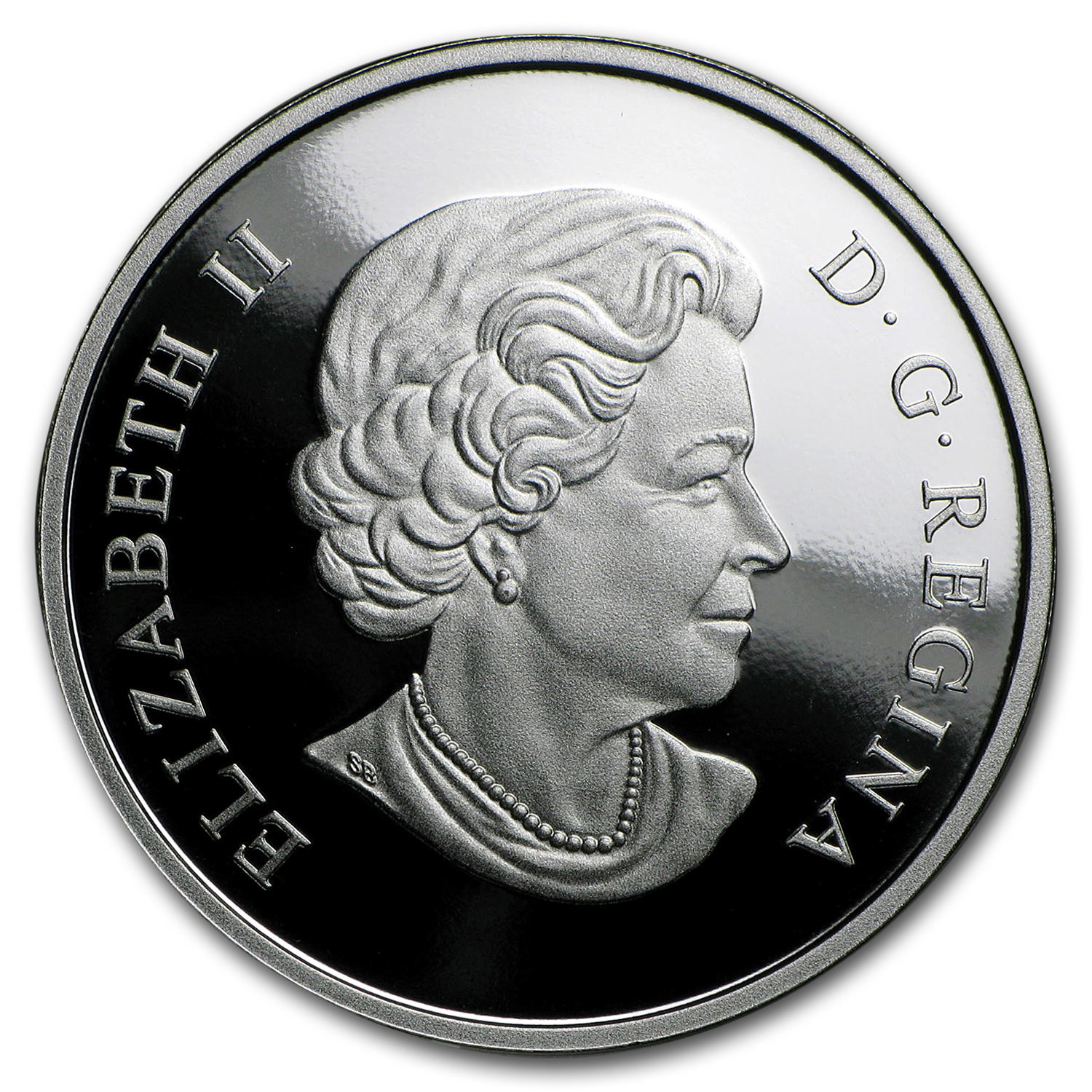 2012 1 oz Silver Canadian $20 The Queen's Diamond Jubilee (UHR)