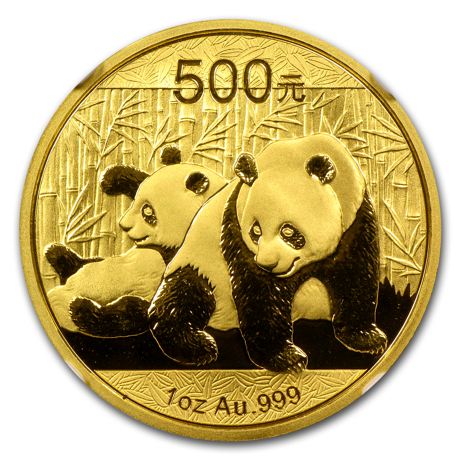 2010 1 oz Gold Chinese Panda MS-69 NGC
