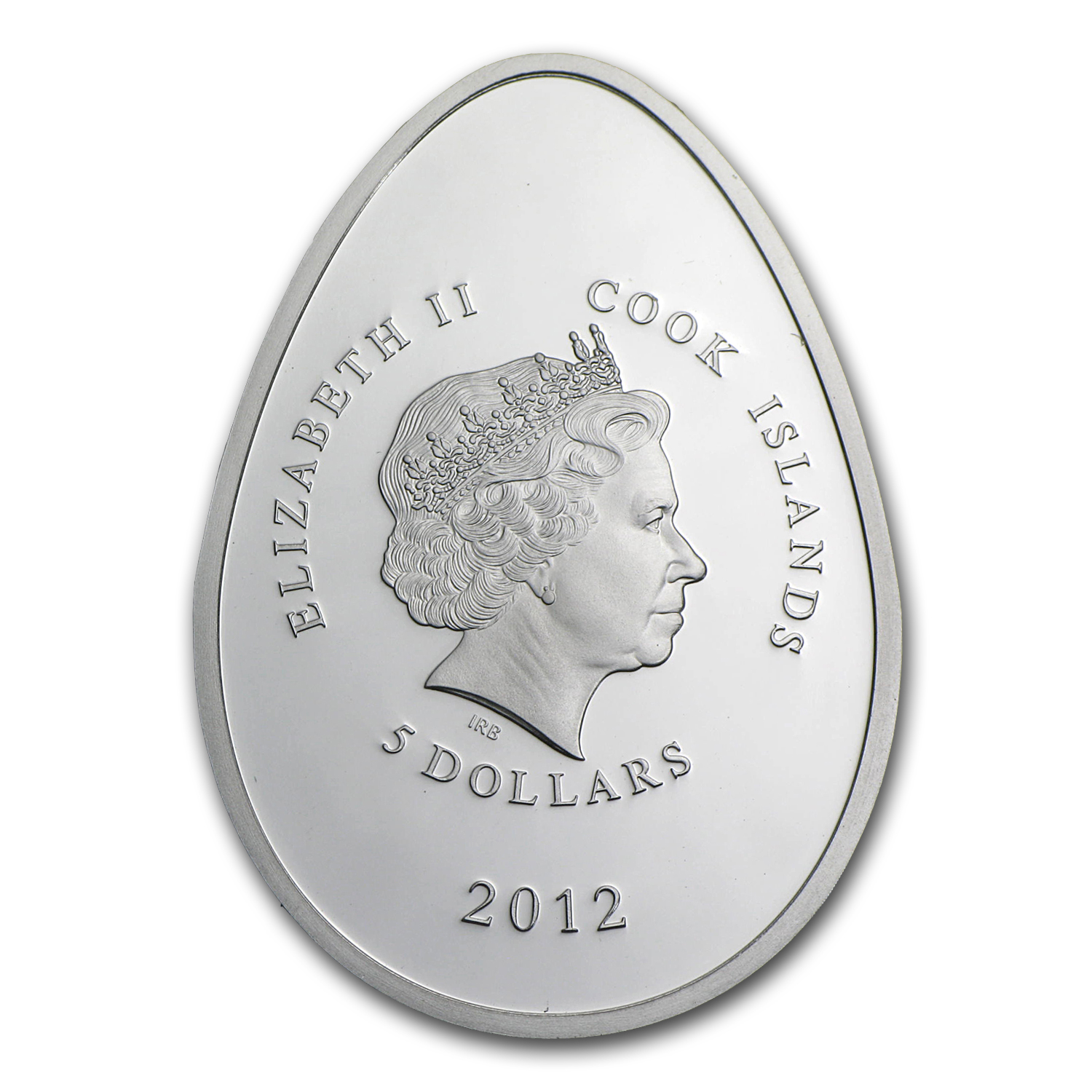 2012 Cook Islands Proof Silver Imperial Egg in Cloisonné Red