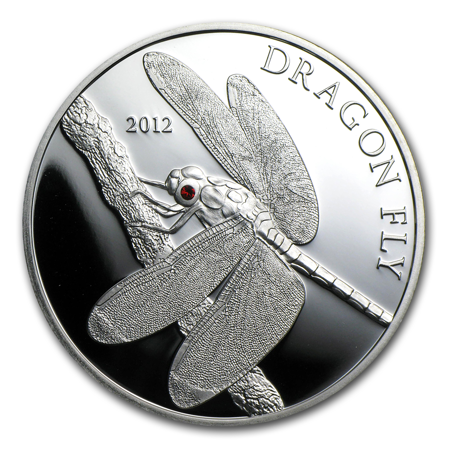 2012 Tokelau Proof Silver $5 Dragonfly