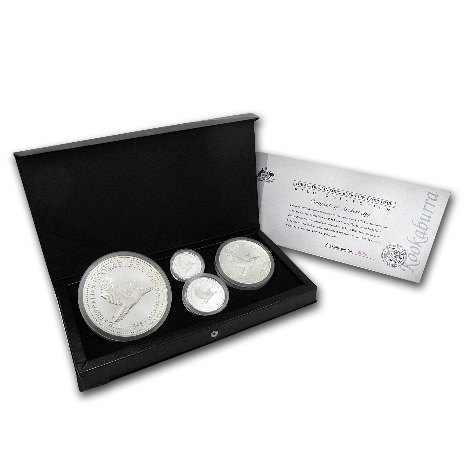1995 Australia 4-Coin Silver Kookaburra Proof Set