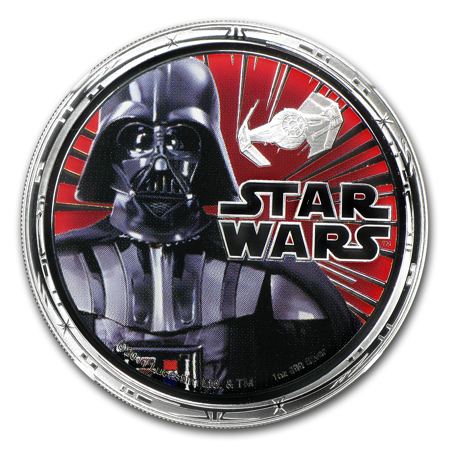 2011 Niue 1 oz Silver $2 Star Wars Darth Vader PF-69 NGC