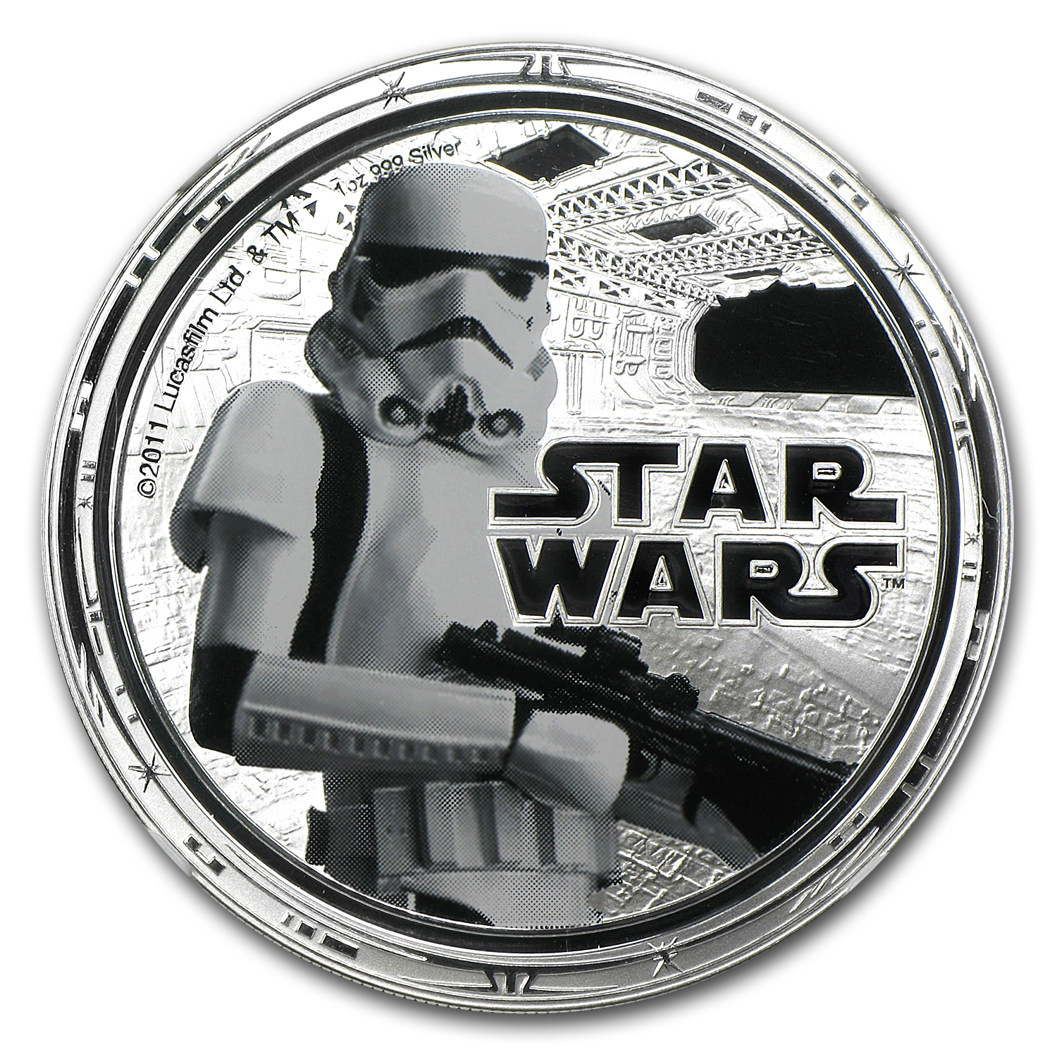 2011 Niue 1 oz Silver $2 Star Wars Stormtrooper PF-69 NGC