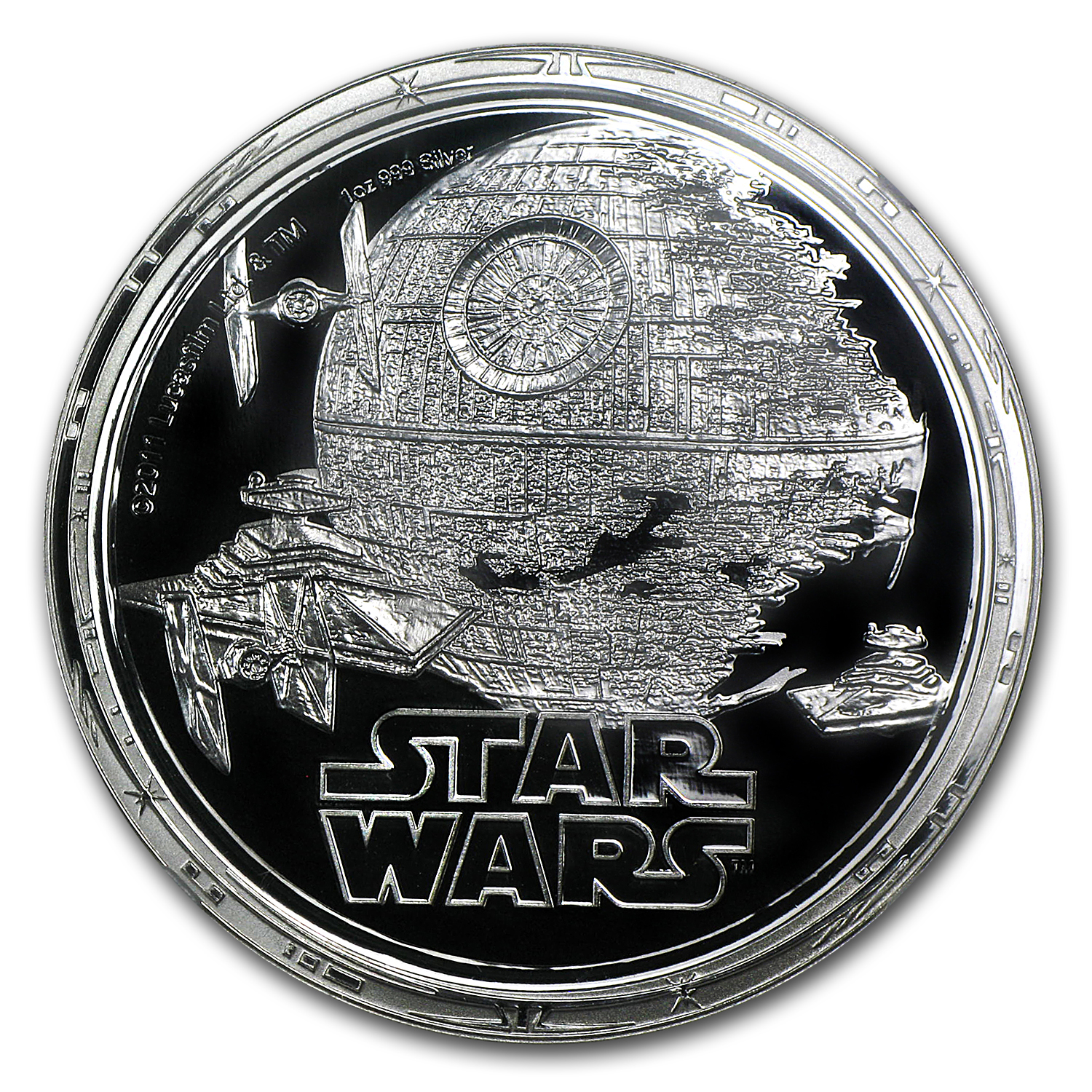 2011 Niue 1 oz Silver $2 Star Wars Death Star PF-69 NGC
