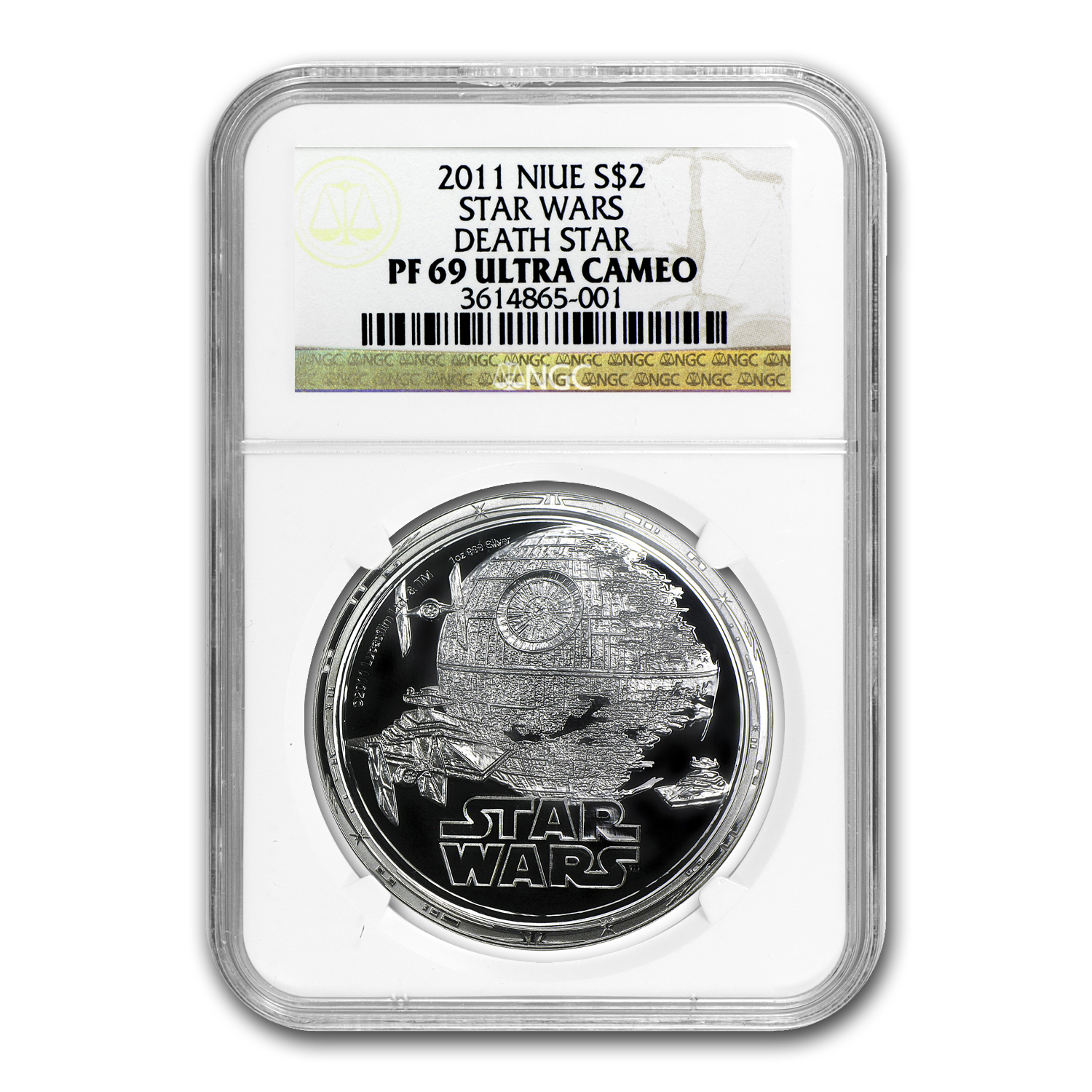 2011 1 oz Silver $2 Niue Star Wars Death Star PF-69 NGC