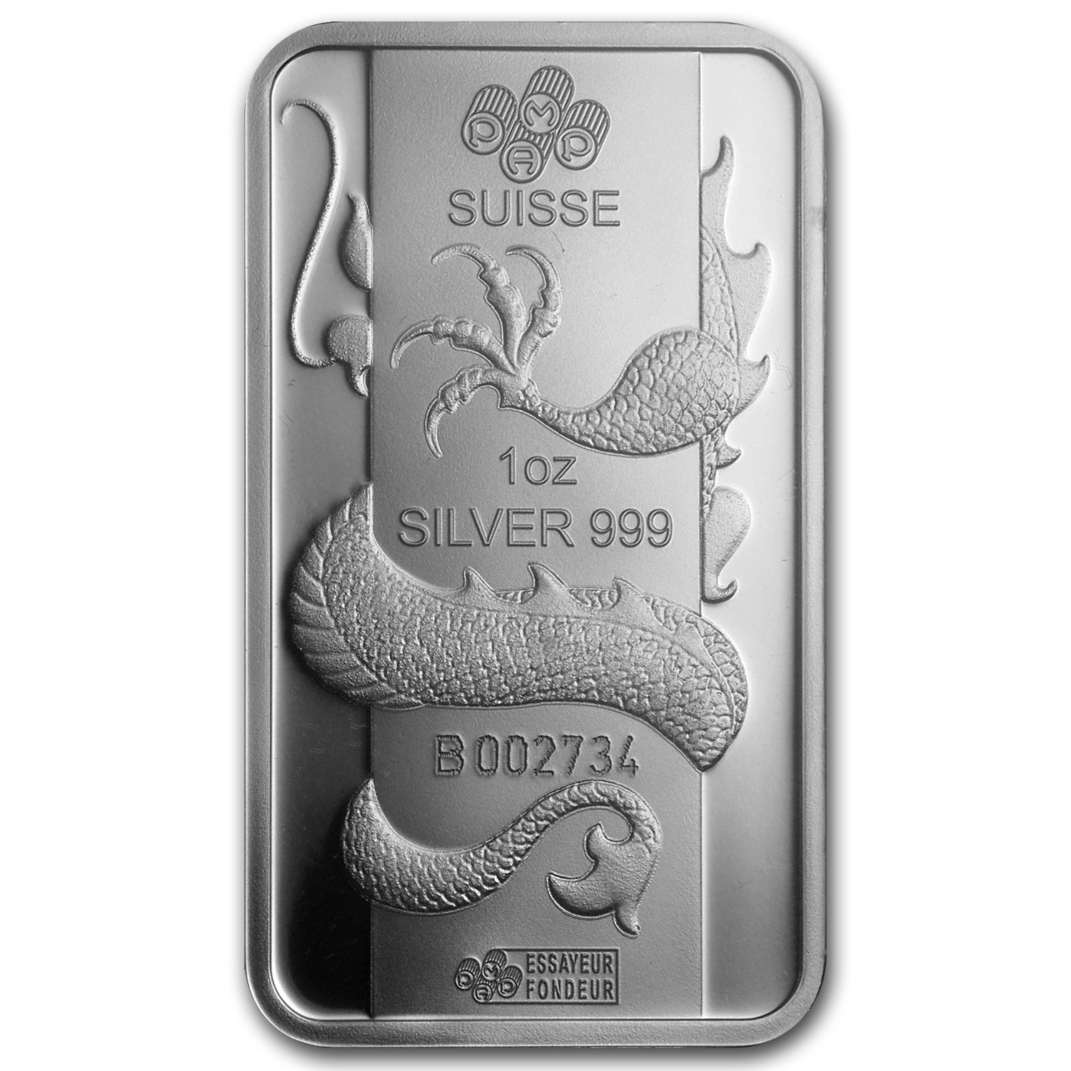 1 oz Silver Bars - Pamp Suisse (Year of the Dragon)