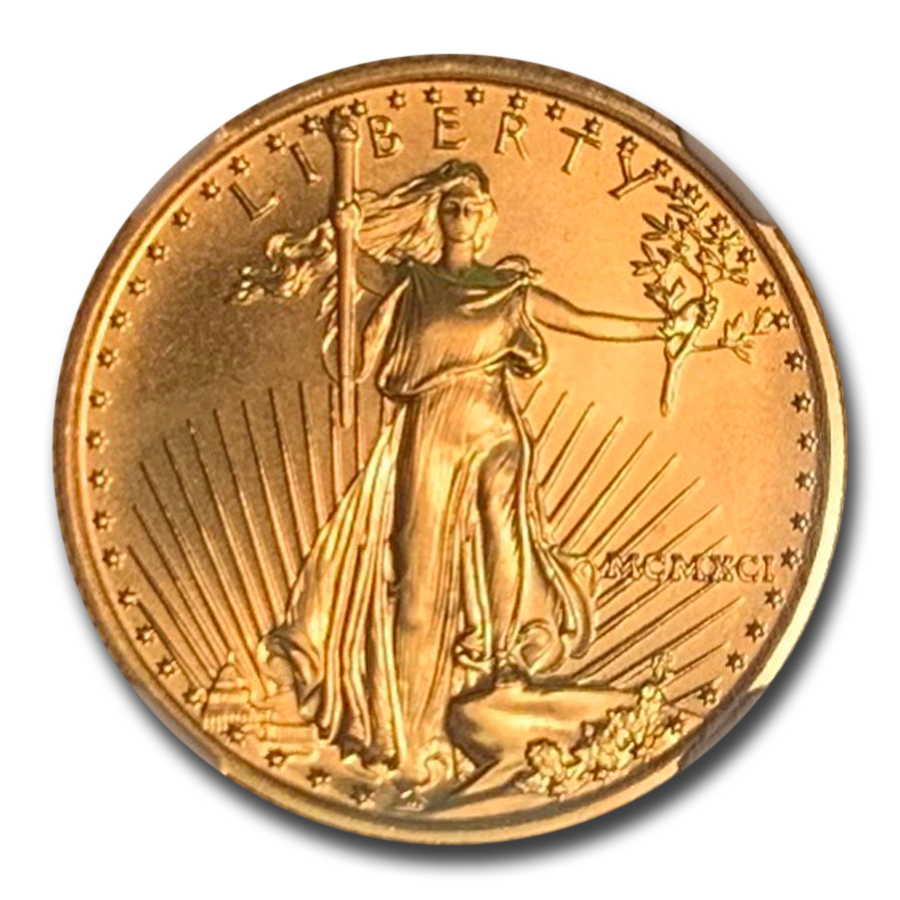 1991 1/4 oz Gold American Eagle MS-70 NGC
