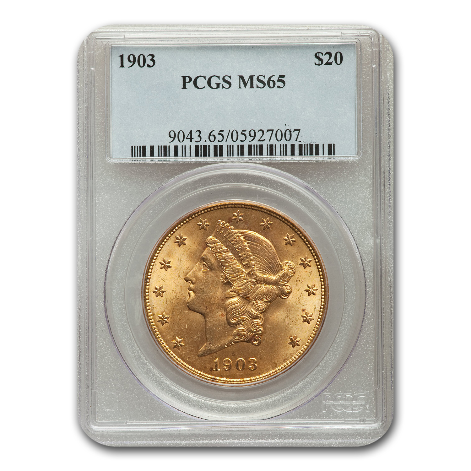 1903 $20 Gold Liberty Double Eagle MS-65 PCGS
