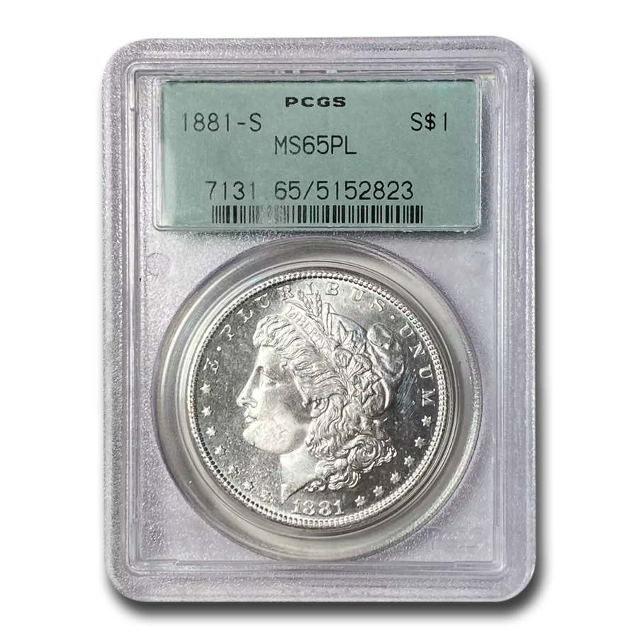 1881-S Morgan Dollar MS-65 PL Proof Like PCGS