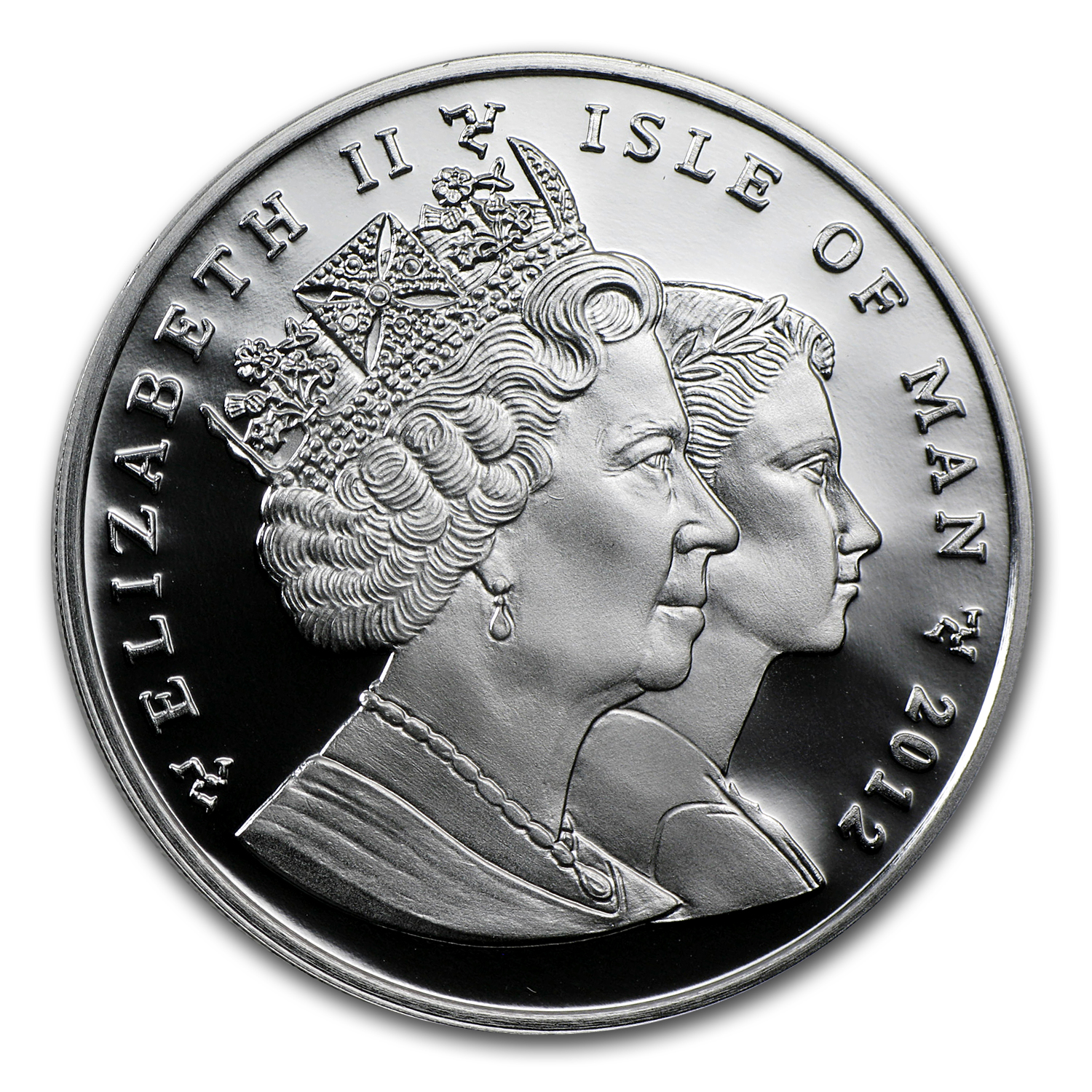 2012 Isle of Man Silver 1 Crown Manx Cat Proof