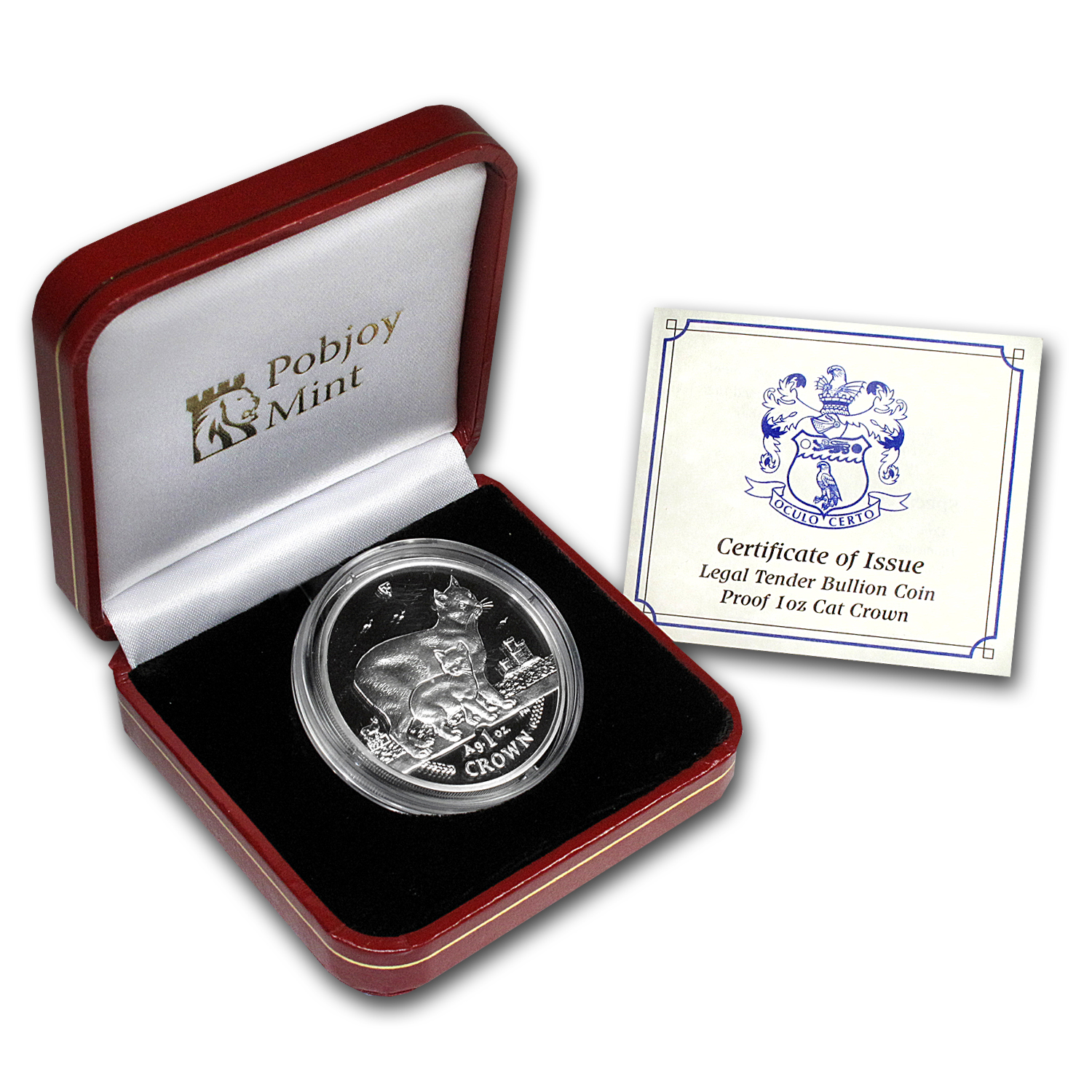 2012 Isle of Man 1 oz Silver Manx Cat Proof
