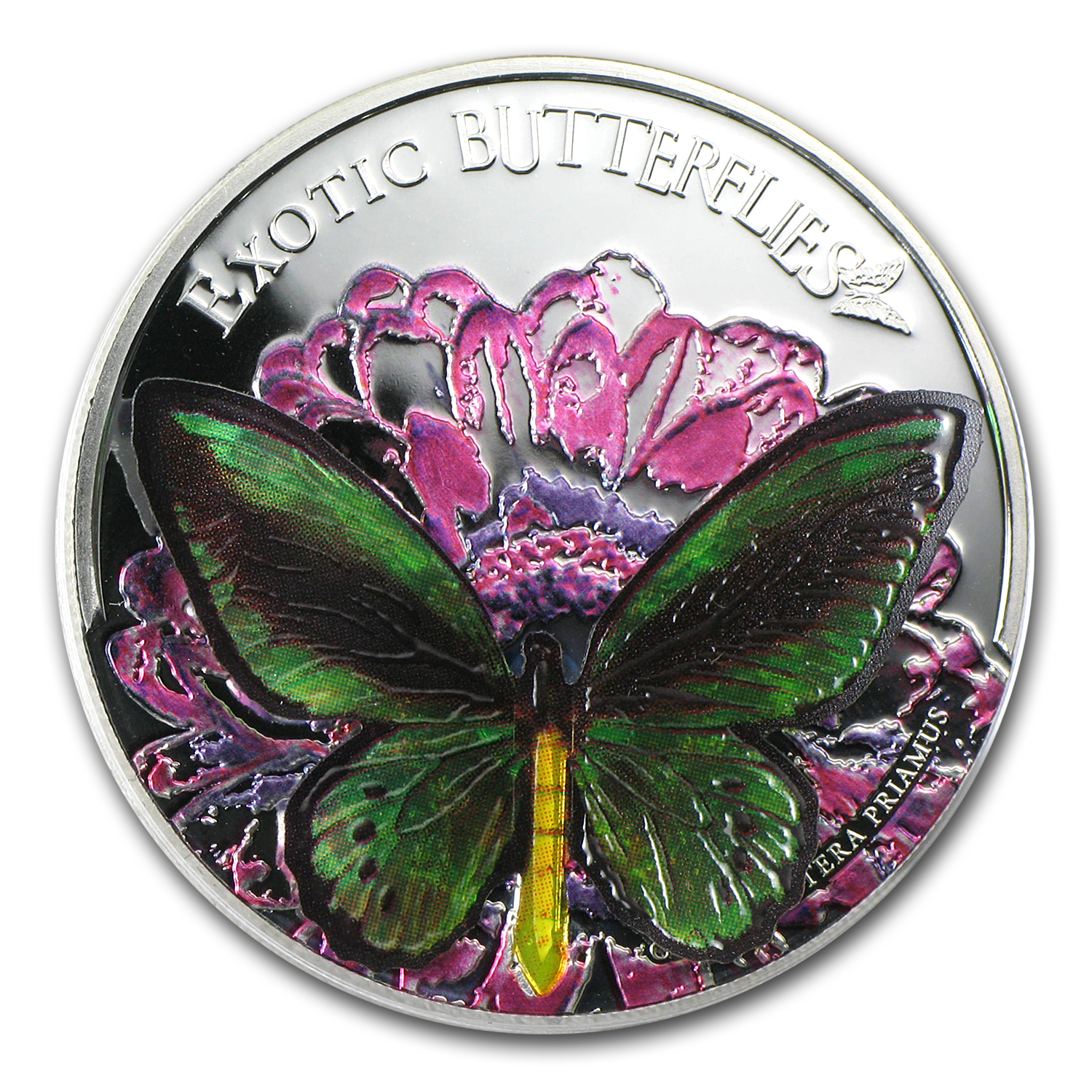 Tokelau 2012 Proof Silver 3D Exotic Butterflies