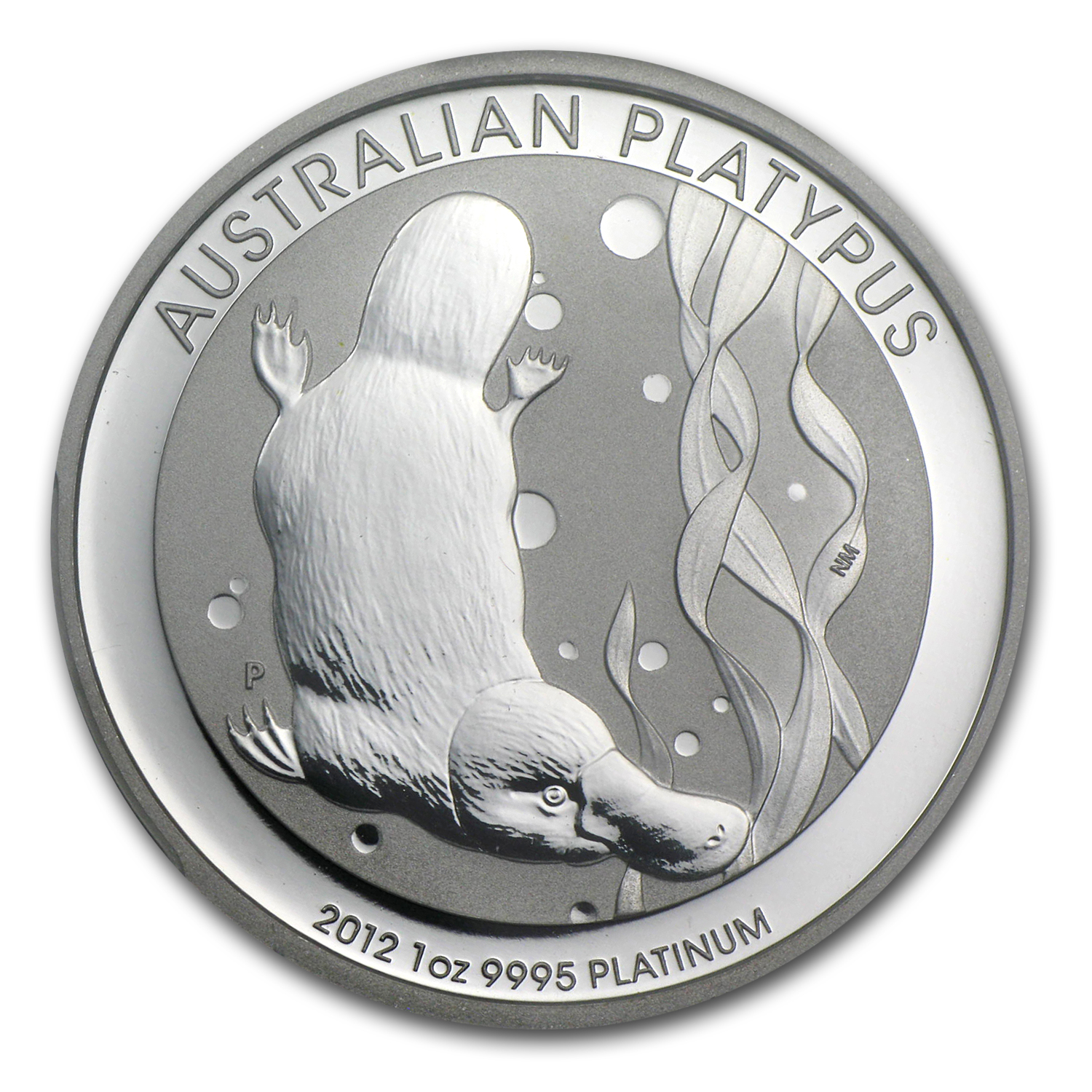 2012 1 oz Australian Platinum Platypus First Strike MS-70 PCGS