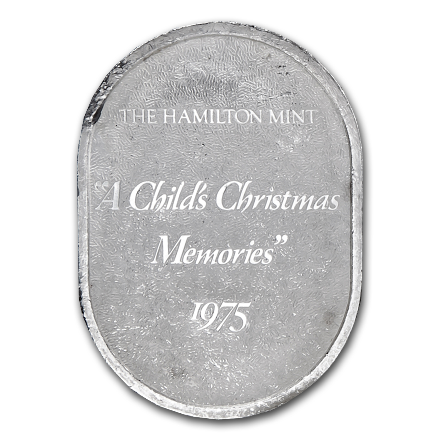 1 oz Silver Oval - A Child's Christmas Memories