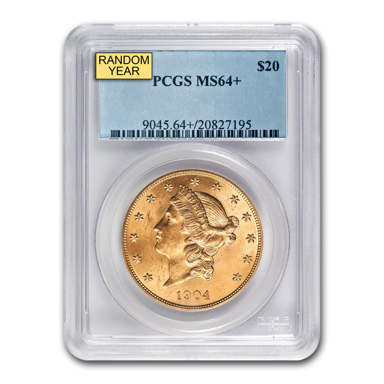 $20 Liberty Gold Double Eagle MS-64+ PCGS (Random)