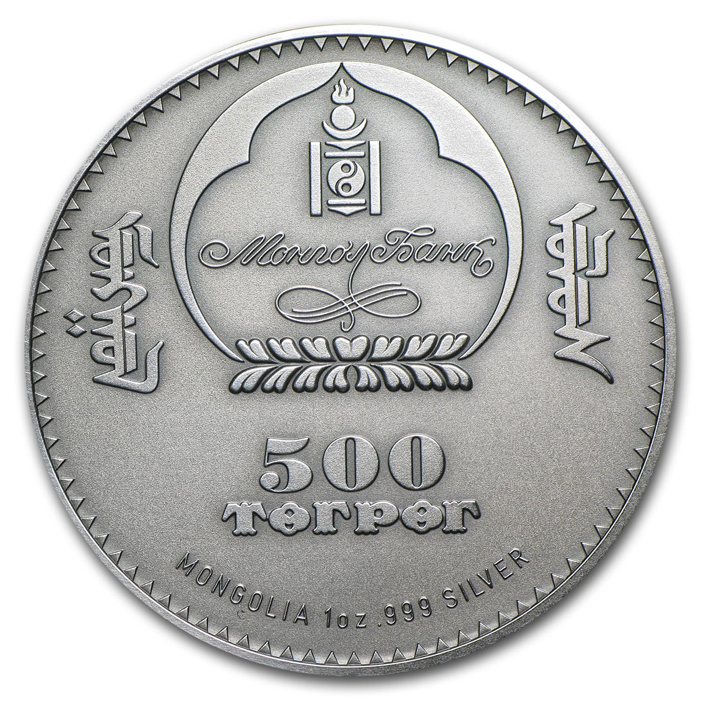 2012 Mongolia Silver 500 Togrog Long Eared Hedgehog Gold