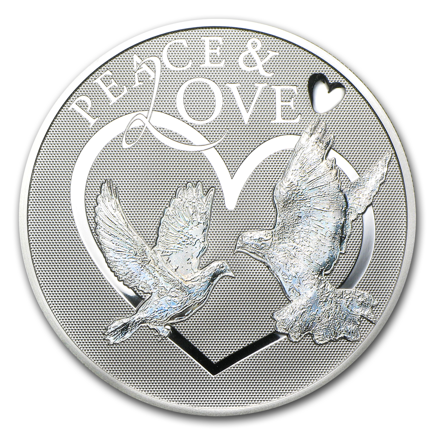 Tokelau 2012 Proof Silver Hologram Peace & Love Silver Coin