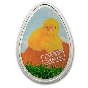 2009 Cook Islands Silver $5 Little Thermo Chick Easter