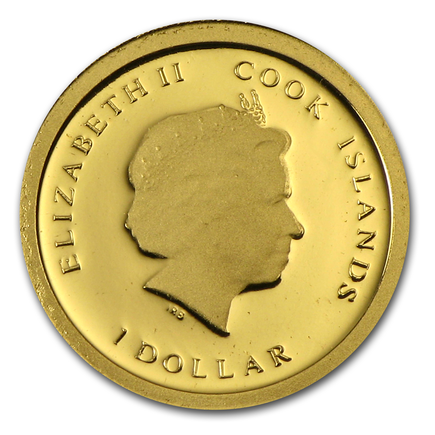 Cook Islands 2012 $1 Titanic 100th Anniversary Proof Gold Coin