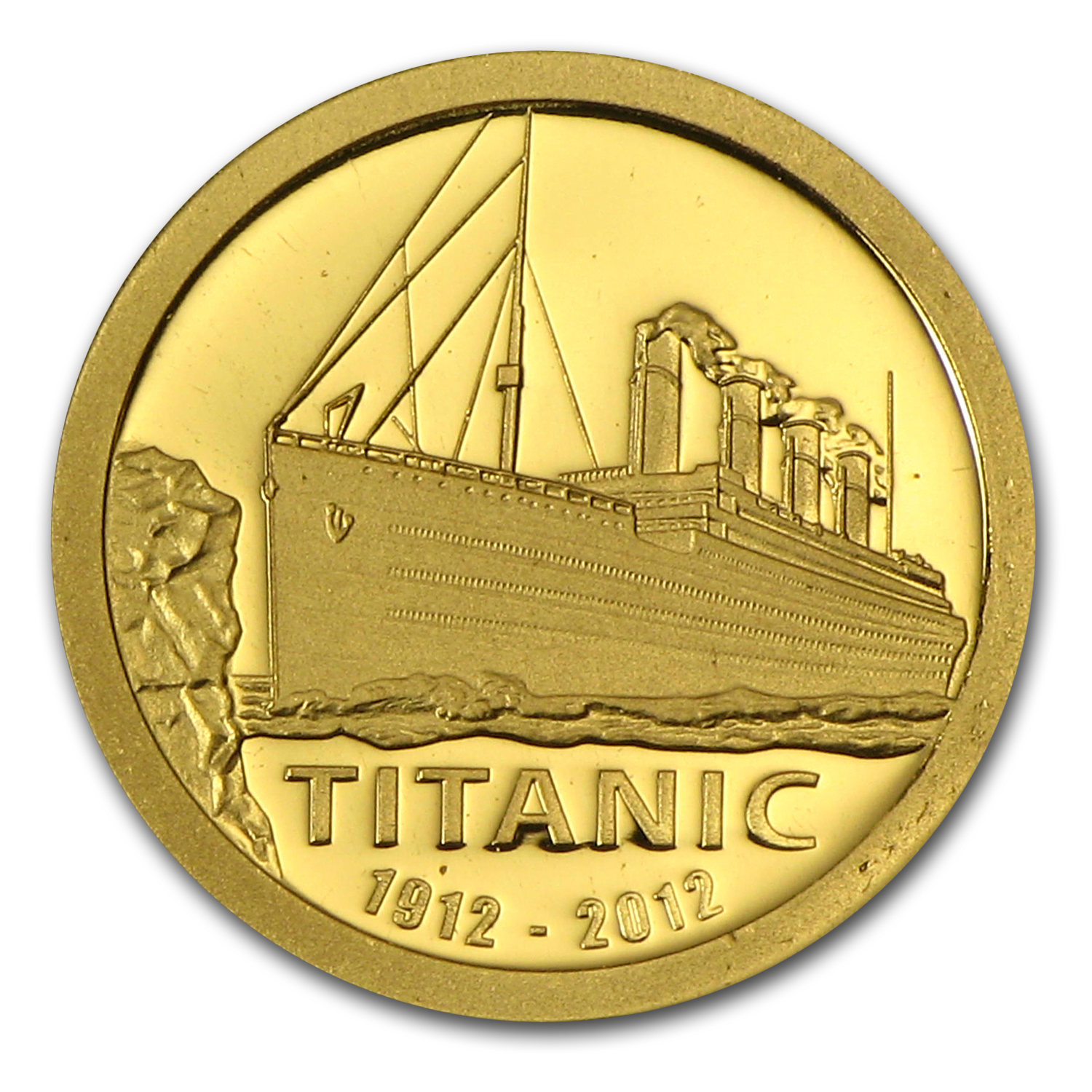 2012 Cook Islands Gold $1 Titanic 100th Anniversary Proof