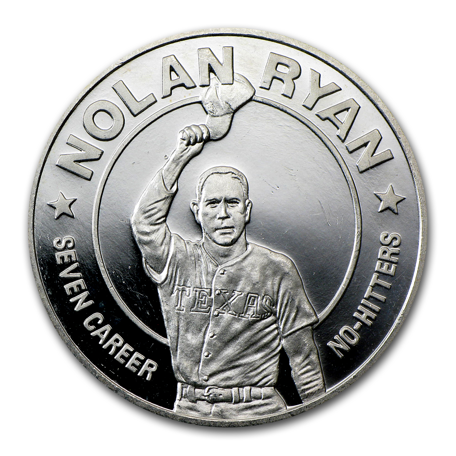 Liberia 1993 10 Dollar 1 Oz Silver Proof  Nolan Ryan