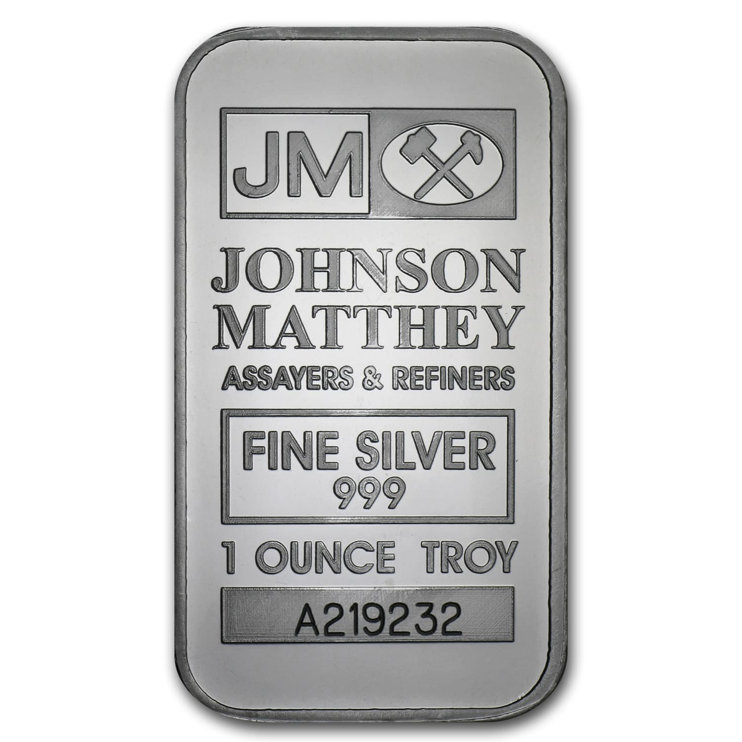 1 oz Silver Bars - Johnson Matthey (New/JM Logo Reverse)