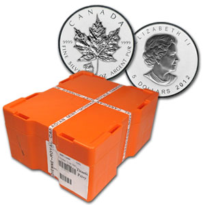 2012 1 oz Reverse Proof Silver Maple Leaf - Titanic 500-Coin Box