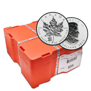 2012 1 oz Silver Maple Leaf - Dragon Privy 500-Coin Box (Sealed)