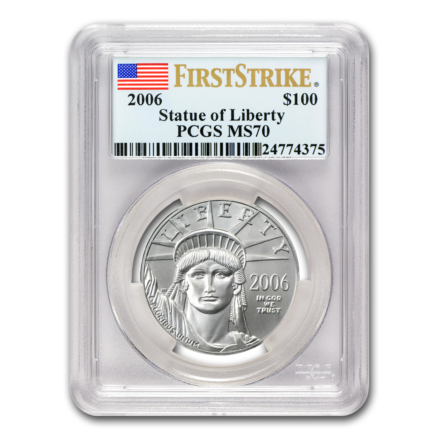 2006 1oz Platinum American Eagle MS-70 PCGS (FS) Registry Set