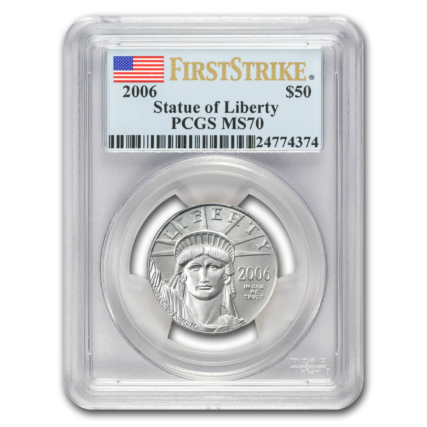 2006 1/2 oz Platinum American Eagle MS-70 PCGS (First Strike)