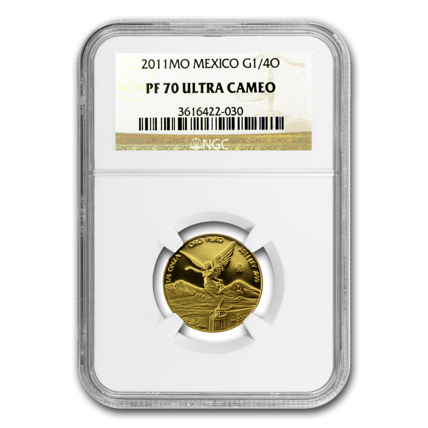 2011 Mexico 1/4 oz Gold Libertad PF-70 NGC