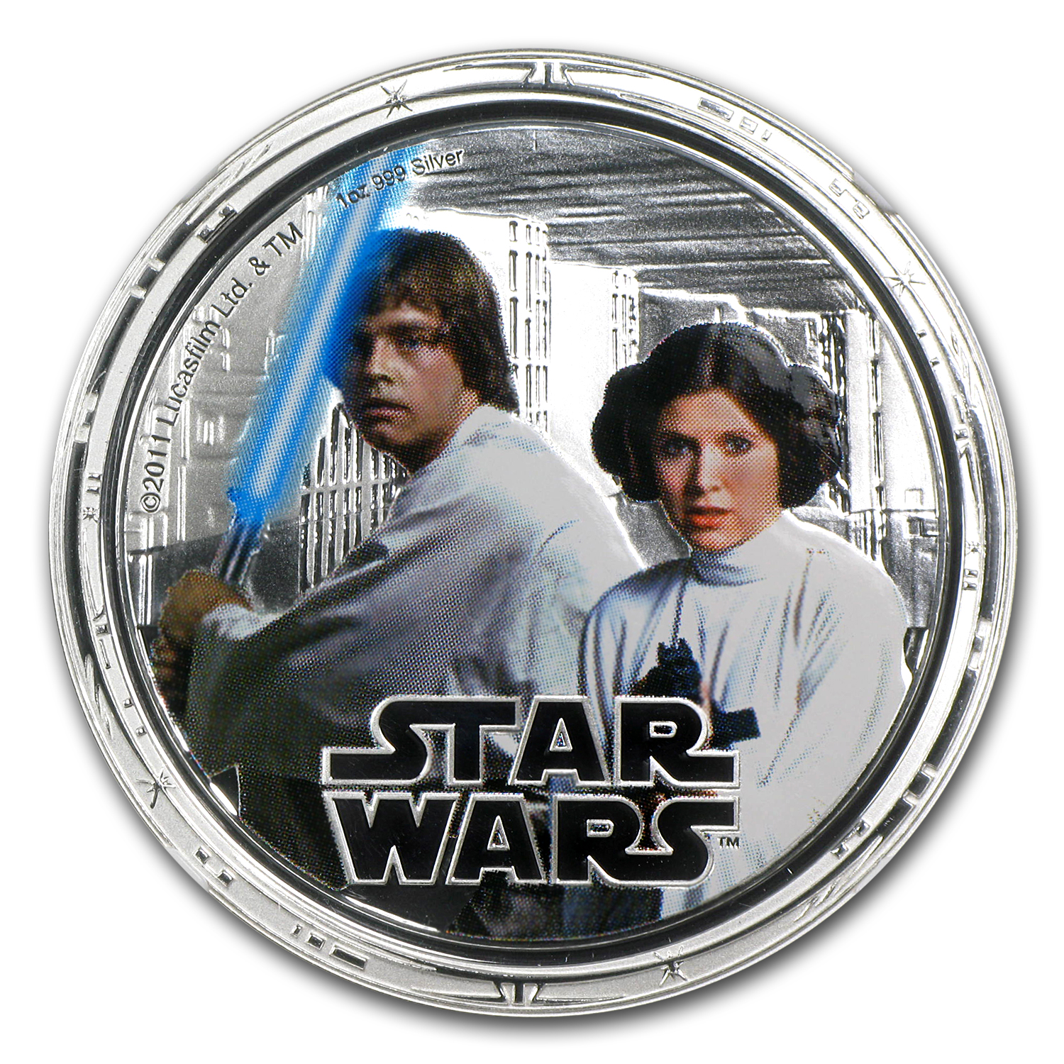2011 1 oz Silver $2 Niue Star Wars Luke Skywalker/Leia PF-70 NGC