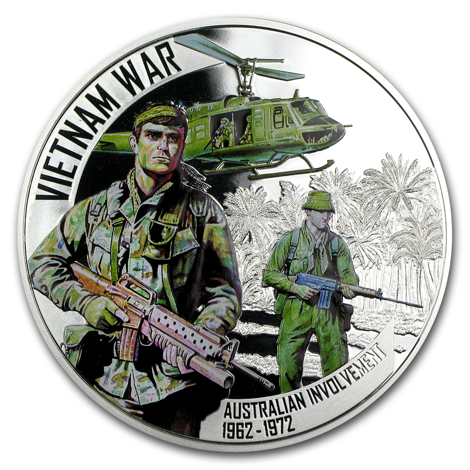2012 Niue 5 oz Silver $5 Vietnam War Australia Involvement